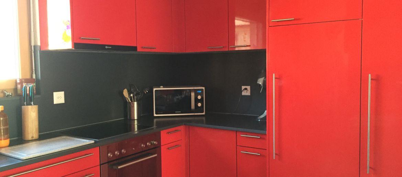 Cuisine rouge et noir